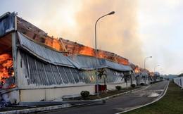 PCCC Trung Quốc hỗ trợ chữa cháy nhà máy xơ sợi ở Quảng Ninh