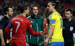 """Ibrahimovic lấy siêu phẩm """"xe đạp chổng ngược"""" của mình ra thách thức Ronaldo"""