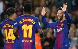 """Messi lập hat-trick, Barca đẩy Real vào thế """"thua không được, thắng không đành"""""""