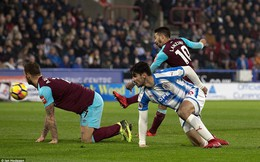 Vòng 23 Premier League: Huddersfield 1-4 West Ham