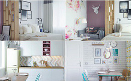 Cô gái trẻ biến căn phòng đi thuê 15m² thành căn hộ khép kín siêu đẹp nhờ giải pháp sáng tạo