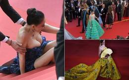 """Giả vờ ngã, mặc Hoàng Bào và những """"trò lố"""" của mỹ nhân Hoa ngữ trên thảm đỏ Cannes 2018"""