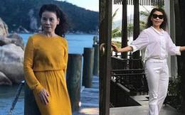 Dù đã ngoài 60 nhưng mẹ của Hà Hồ vẫn diện váy maxi, quần jeans và giày cao gót thời thượng chẳng kém con gái