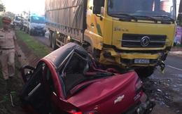 Ô tô lao trực diện vào xe tải, 1 người chết tại chỗ, 3 bị thương nặng