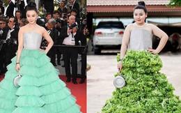 """Cosplay hàng hiệu thời trang bằng cách tự làm váy áo bằng đồ ăn, cô bạn Thái Lan tự tin """"chặt chém"""" mọi nhân vật đình đám"""