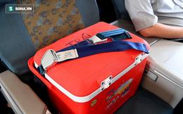 """Hành khách """"đặc biệt"""" trong chiếc thùng lạnh trên hành trình bay gần 700km cứu người"""