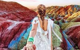 Bạn không hoa mắt đâu, đây chính là ngọn núi cầu vồng rực rỡ đẹp mê lòng người nổi tiếng ở Trung Quốc