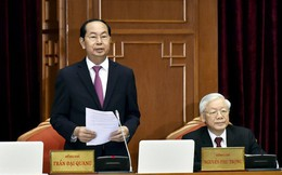 Chủ tịch nước Trần Đại Quang điều hành ngày làm việc đầu tiên Hội nghị Trung ương 7