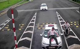 Bắt khẩn cấp lái taxi tông nhân viên an ninh sân bay rồi hất lên nắp capo