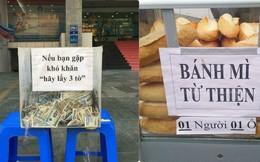 """Ấm áp với hộp đựng tiền lẻ """"Nếu bạn khó khăn hãy lấy 3 tờ"""" ở TP Hồ Chí Minh"""