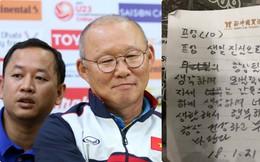 Lộ bản viết tay lời dặn dò của HLV Park Hang-seo dành cho cầu thủ U23 Việt Nam