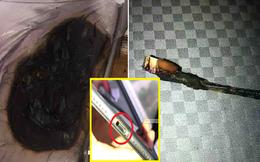 Cắm sạc điện thoại khi ngủ, tỉnh dậy tá hỏa thấy khói và ga trải giường cháy đen