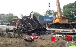 Hai người tử vong trong vụ xe container đâm nhau là vợ chồng
