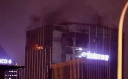 Hà Nội: Cháy toà nhà tháp thương mại trên đường Lê Văn Lương