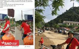 Ấm lòng trước hành động đạp xe xuyên Việt quyên góp cho người nghèo chàng trai 9X