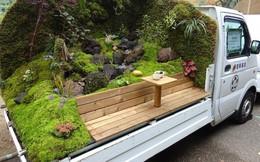 Xe tải cũ hỏng biến thành vườn cây xanh mát đẹp mê li, một lần nữa người Nhật lại khiến thế giới kinh ngạc