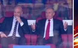 Hành động thú vị của Tổng thống Putin trong ngày ĐT Nga đại thắng