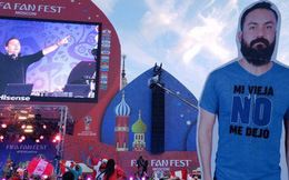 Vợ không cho sang Nga xem World Cup, nhóm bạn thân đành in hình anh chồng ra miếng bìa rồi mang đi cho đủ team