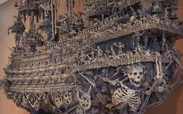 Kỳ công điêu khắc suốt 14 tháng liên tục, chàng nghệ sỹ tạo nên con tàu cướp biển ấn tượng đến khó tin
