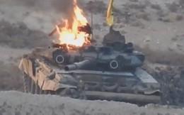 """Xe tăng T-90 Nga nổ tung ở Syria: Thần thánh cũng """"đi đứt"""" như bao anh tài khác"""