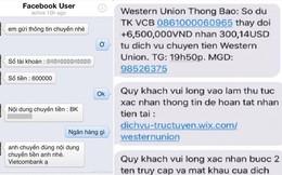 Techcombank cảnh báo thủ đoạn chiếm đoạt tiền qua kênh Western Union giả mạo