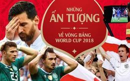 Hàn Quốc biến Đức thành cựu vương, Argentina cùng Messi chật vật thoát cửa tử,... là những ấn tượng khó quên sau vòng bảng World Cup 2018