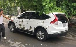 Hà Nội: Sáng sớm phát hiện xế hộp dính đầy phân trước cổng làng