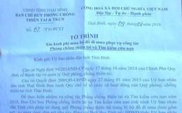 Sự thật bất ngờ về đề xuất mua áo mưa 1 triệu đồng/bộ ở tỉnh Thái Bình