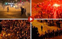 """CĐV Pháp tấn công cảnh sát, làm loạn Paris sau chiến thắng của """"Gà trống"""""""