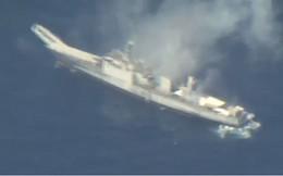 Video: Mỹ và đồng minh phóng tên lửa, ngư lôi đánh chìm tàu chiến