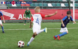 CLIP: Đội bóng nhí tái hiện hoàn hảo trận chung kết World Cup 2018