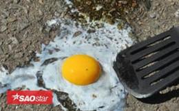 Rán trứng trên đường trong ngày nắng nóng kỷ lục ở Anh