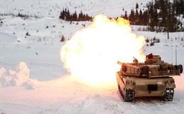 Uy lực chiến tăng M1A1 Abrams trong huấn luyện chiến đấu