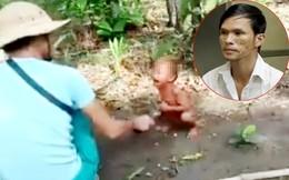 Nam thanh niên dùng roi điện chích vào dương vật em bé rồi quay phim