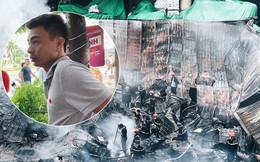 """""""Người hùng"""" phá cửa cuốn cứu 2 cháu bé giữa ngọn lửa dữ đêm cháy chợ Gạo: """"Mặt các bé tái mét trông thương lắm"""""""