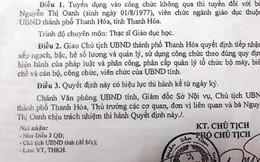 Đề xuất hủy quyết định bổ nhiệm sai 6 lãnh đạo TP Thanh Hóa