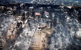 24h qua ảnh: Quang cảnh tan hoang sau đám cháy rừng kinh hoàng ở Hy Lạp