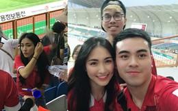 Hòa Minzy gây chú ý khi xuất hiện trên khán đài xem U23 Việt Nam thi đấu chiều nay