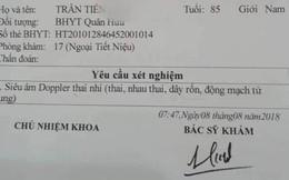 Vào Bệnh viện Quân đội 108 khám, cụ ông 85 tuổi được chỉ định siêu âm thai