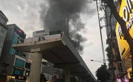 Cháy lớn tại tòa nhà FLC đang xây dựng trên đường Cầu Giấy