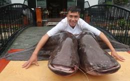 """""""Choáng"""" với cặp cá leo nặng hơn 1 tạ"""