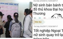Thực hư thông tin nữ sinh đỗ thủ khoa Ngoại thương đi bán bánh tráng trộn