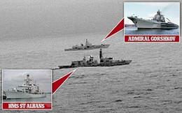 Hải quân Anh giám sát một tàu chiến Nga tại eo biển Manche