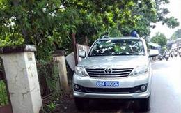 Bình Thuận thông tin về xe cảnh sát đỗ bên đường