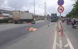 Chạy tốc độ cao vào đường cấm ở Xa lộ Hà Nội, thanh niên bị container cán tử vong