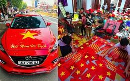 Sắc đỏ ngập tràn trước giờ đón 'bão' U23 Việt Nam tối nay