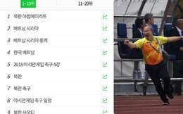 ĐT U23 Việt Nam lọt top cao trên Naver - trang tìm kiếm số một của Hàn Quốc