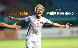 Tặng voucher, tiền mặt cho khách hàng có trùng tên người hùng tuyển Việt Nam sau trận thắng Syria