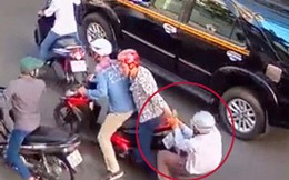Băng cướp dùng cây đánh nạn nhân rồi lấy xe máy ở Sài Gòn
