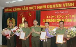 4 tướng công an nhận quyết định nghỉ hưu
